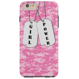 Girl Power Dog Tags Tough iPhone 6 Plus Case