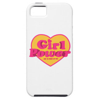 Girl Power Heart Shaped Typographic Design Quote iPhone 5 Covers