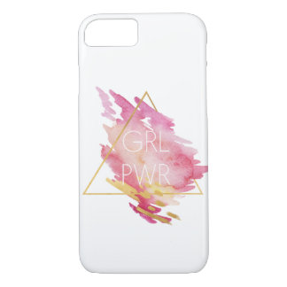 Girl Power in Pink & Gold - Abstract Watercolor iPhone 8/7 Case