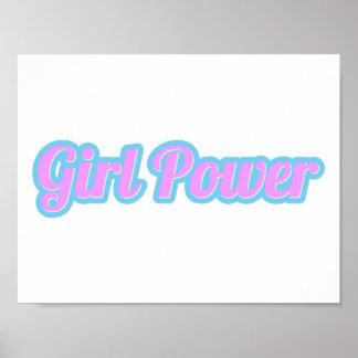 Girl Power Light Pink and Light Blue Poster
