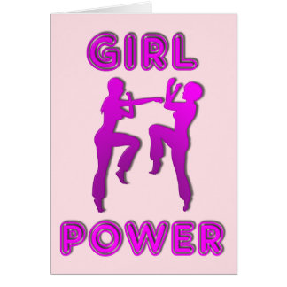 Girl Power Martial Arts Females Greetings Card