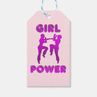 Girl Power Martial Arts Sparring Females Gift Tag