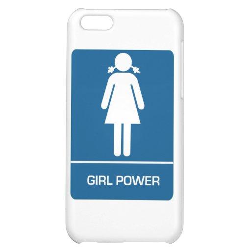 Girl Power Restroom Door iPhone 5C Cover
