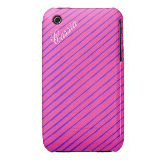 Girl Power Stripe iPhone Case iPhone 3 Case-Mate Case