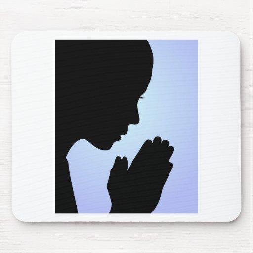 Girl Praying Mouse Pads