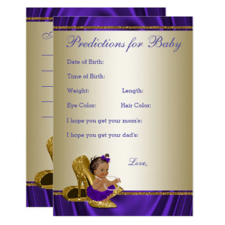 Girl Predictions and Advice Cards Girl Baby Shower 9 Cm X 13 Cm Invitation Card