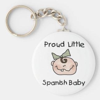 Girl Proud Spanish Baby Basic Round Button Key Ring