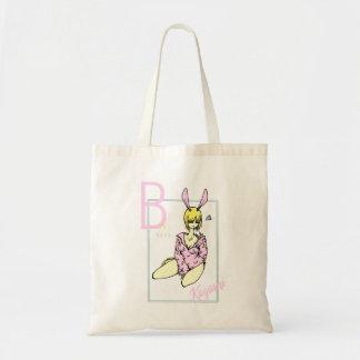 Girl Rabbit Pink nice reason banana Tote Bag