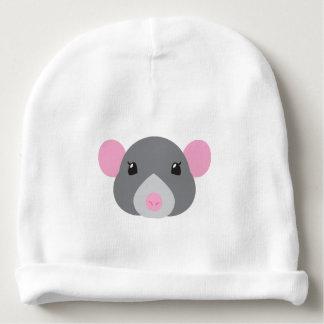 girl rat face grey baby beanie