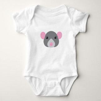 girl rat face grey baby bodysuit