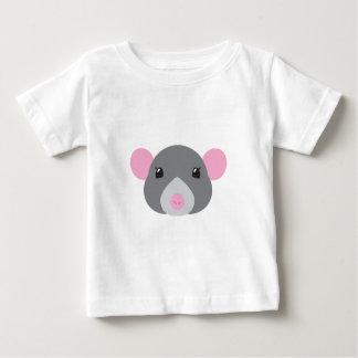 girl rat face grey baby T-Shirt