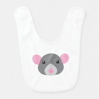 girl rat face grey bib