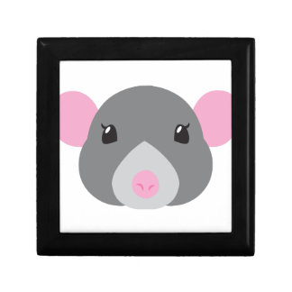 girl rat face grey gift box
