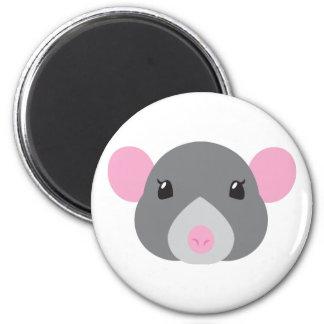 girl rat face grey magnet