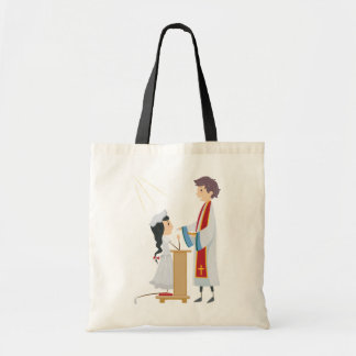 Girl Receiving Communion Tote Bag