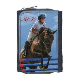 Girl Rider and Show Jumping Horse Wallets