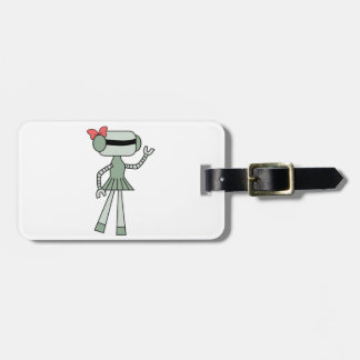 Girl Robot Luggage Tags