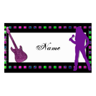 Girl Rock Personal or Business Card