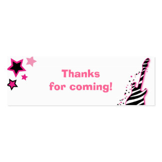 Girl Rock Star Baby Shower Favor Gift Tags Business Card Template