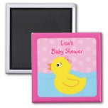 Girl Rubber Ducky Duck Party Favour Magnets