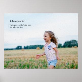 Girl running chiropractic poster