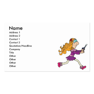 girl running with scissors business card