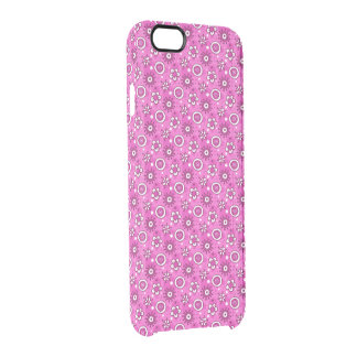 Girl's Fun Cute Pink Flowers & Shapes Pattern