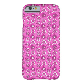 Girl's Fun Cute Pink Flowers & Shapes Pattern Barely There iPhone 6 Case
