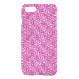 Girl's Fun Cute Pink Flowers & Shapes Pattern iPhone 7 Case