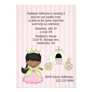 Girl s Princess Coach Birthday Party Invitation