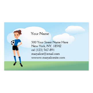 Girl s Soccer Player Personalized Business Card
