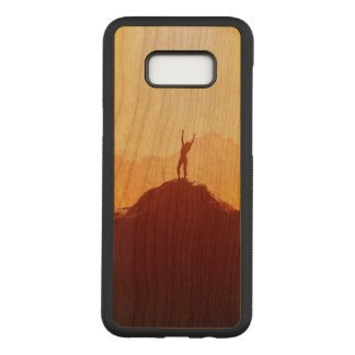 Girl Samsung Galaxy S8+ Slim Cherry Wood Case