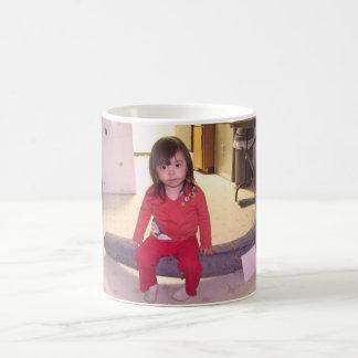girl sat on tusk ak basic white mug