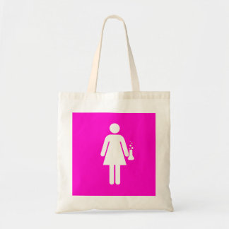 Girl Scientist Budget Tote Bag