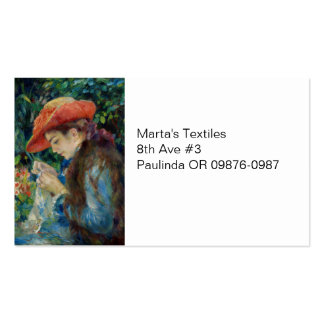 Girl Sewing in the Garden Pack Of Standard Business Cards