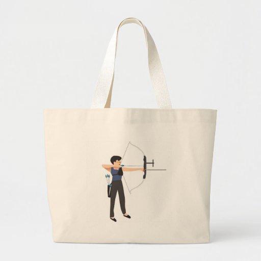 girl shooting archery canvas bag