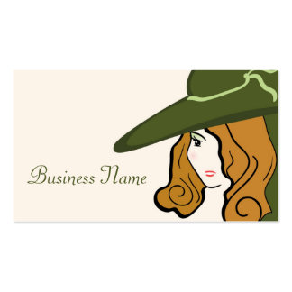 Girl Silhouette Business Card
