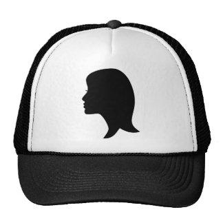 Girl Silhouette Mesh Hat