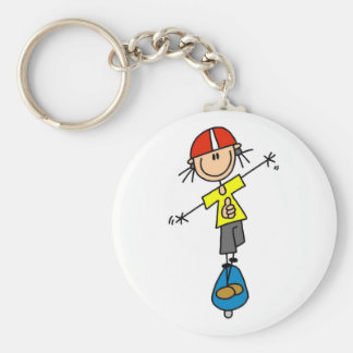 Girl Skateboarder Tshirts and Gifts Key Ring