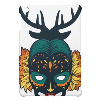 girl skull with deer antin cover for the iPad mini