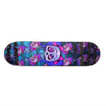 Girl Skulls and Chains Blue Skateboards