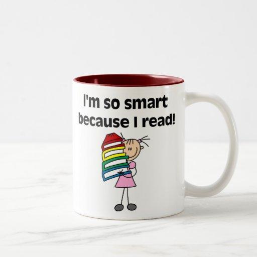 Girl Smart Because I Read Mugs