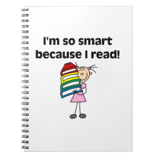 Girl Smart Because I Read Notebooks