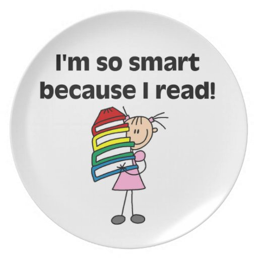Girl Smart Because I Read Party Plate