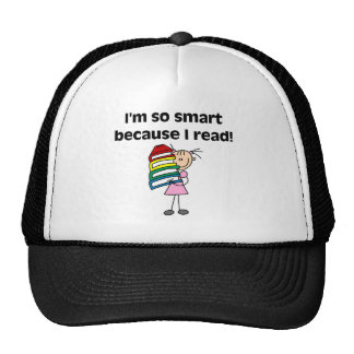 Girl Smart Because I Read Tshirts and Gifts Cap