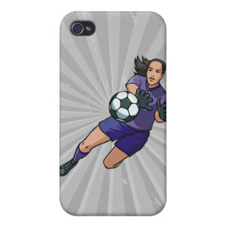 girl soccer goalie graphic iPhone 4 cover