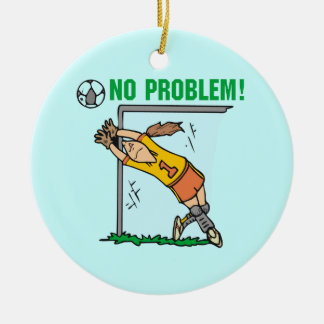 Girl Soccer Goalie T-shirts and Gifts Ceramic Ornament