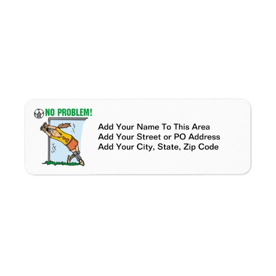 Girl Soccer Goalie T-shirts and Gifts Return Address Label