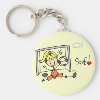 Girl Soccer Goalie Tshirts and Gifts Keychains