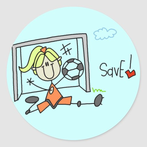 Girl Soccer Goalie Tshirts and Gifts Stickers